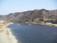 烏山大橋から見た那珂川