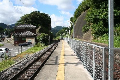 本川内駅のスイッチバック